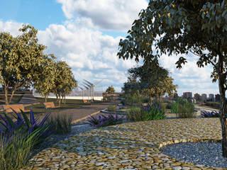 PARQUE ESTACIÓN: Jardines de estilo  por CREAT ARQUITECTURA