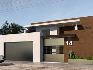 REMODELACIÓN DE FACHADA: Casas unifamiliares de estilo  por CREAT ARQUITECTURA