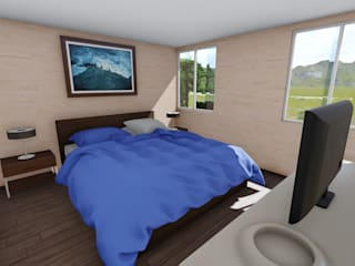 Chambre moderne par Ekeko arquitectura - Coquimbo Moderne