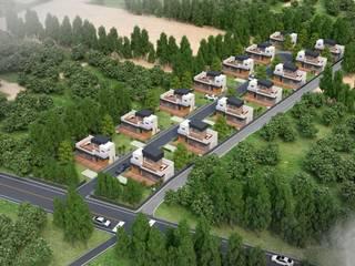 제주 남원읍 위미리 단독주택 단지: 건축사사무소 이레EL의 현대 ,모던
