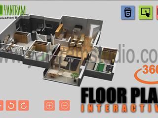 Virtual Reality Floorplan By Yantram Development- New jersey, USA Klasik Klinikler Yantram Architectural Design Studio Klasik