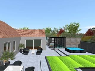 Garden Design Hindhead, Surrey Linsey Evans Garden Design Jardines de estilo moderno Concreto Blanco