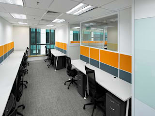 Office space planning and renovation Minimalst style study/office by Atmosphere Axis Sdn Bhd Minimalist