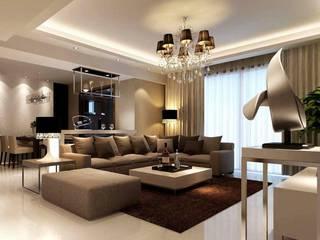 Interiors:  Dining room by M.U Interiors,