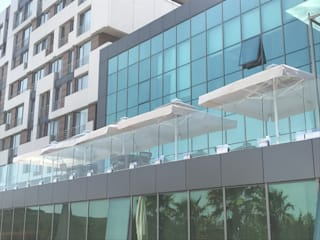 Akaydın şemsiye Modern Terrace Aluminium/Zinc White