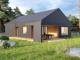 Dom jednorodzinny o pow. 160 m2 w Szczecinie: styl , w kategorii Domy zaprojektowany przez 4Q DEKTON Pracownia Architektoniczna