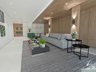 Pasillos, vestíbulos y escaleras de estilo moderno de LARISSA REIS ARQUITETURA Moderno