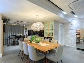 Dining room by PANORAMA Arquitetura & Interiores, Eclectic