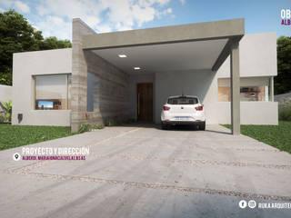 ALBERDI: Casas de estilo moderno por RUKA arquitectas
