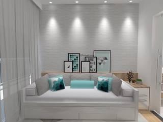 Apartamento Estudantil de 16m²: Quartos  por Fareed Arquitetos Associados