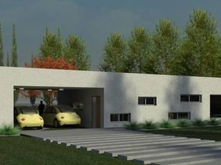 """Obra """"LA MADRINA"""": Casas unifamiliares de estilo  por R+ARQ"""