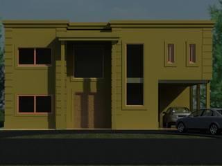 """Obra """"PUERTOS DEL LAGO"""": Casas unifamiliares de estilo  por R+ARQ"""