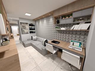 غرفة المعيشة تنفيذ Fareed Arquitetos Associados