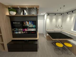 Living room by Fareed Arquitetos Associados