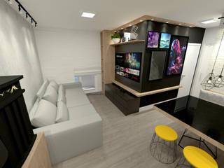 Salas de estilo  por Fareed Arquitetos Associados