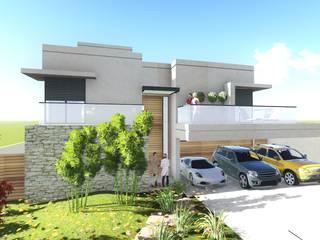Casas adosadas de estilo  de Carla Pagotto Arquitetura e Design Interiores,