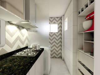 Cozinha Vila 03 Arquitetura Armários e bancadas de cozinha MDF Bege