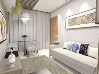 Sala de Estar Vila 03 Arquitetura Salas de estar modernas MDF Bege