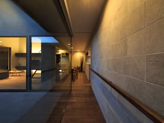 富の原の家 モダンスタイルの 玄関&廊下&階段 の 川添純一郎建築設計事務所 モダン