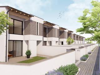 Projekty,  Dom szeregowy zaprojektowane przez 2P COSTRUZIONI srl,