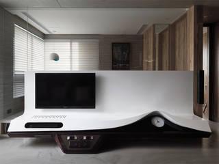 返 - 新北徐宅 现代客厅設計點子、靈感 & 圖片 根據 形構設計 Morpho-Design 現代風