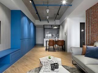 Salon de style  par 湘頡設計, Industriel Bois Effet bois