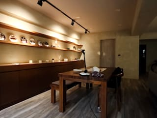 Minimalst style study/office by 青築制作 Minimalist