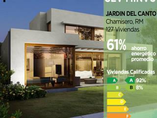 Calificación Energética Viviendas, condominio Jardín del Canto Pasiva Casas ecológicas