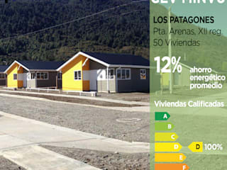 Calificación Energética Viviendas, condominio Los Patagones Pasiva Casas ecológicas