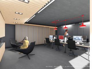 Sede da empresa Duo Group Escritórios industriais por OGGOstudioarchitects, unipessoal lda Industrial