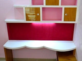 Shape Interiors Teen bedroom Engineered Wood Pink