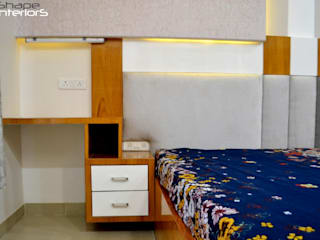 Shape Interiors BedroomBedside tables Kayu Buatan Grey
