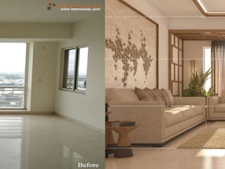 4BHK Home Interiors by Fabmodula