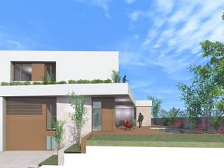Vista fachada acceso:  de estilo  de Loft 26