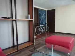 Depa Hidalgo Salones minimalistas de Designo Arquitectos Minimalista