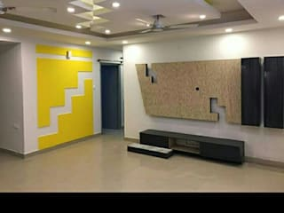 Asian style corridor, hallway & stairs by Aqua homes Asian