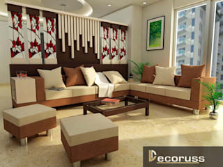 Pooja Agarwal Shalimar Gallent Mahanagar Lucknow- Interior designing of house by Decoruss Interiors