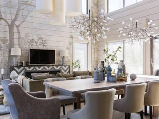 Scandinavian style dining room by Студия дизайна интерьеров Ольги Гусевой Scandinavian
