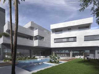 Vivienda unifamiliar en Madrid: Casas unifamilares de estilo  de ARQZONE 3D+Design Studio