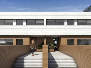 Promoción viviendas pareadas: Casas de estilo  de ARQZONE 3D+Design Studio