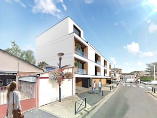 Projecto habitacional Abbe Bourbon por OGGOstudioarchitects, unipessoal lda Minimalista