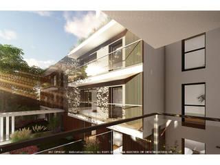 Edifício multifamiliar Beenflet por OGGOstudioarchitects, unipessoal lda Moderno