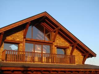 Casa del lago por Manuel Monroy: Casas rurales de estilo  de Manuel Monroy, arquitecto