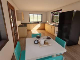 Ekeko Arquitectura Classic style kitchen MDF Wood effect