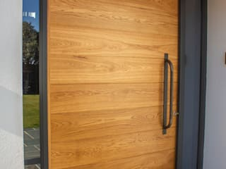 Timber Pivot Entrance door:  Front doors by Camel Glass