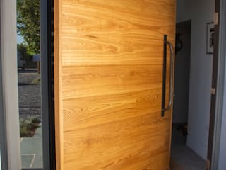 ​Timber Pivot Door made at our joinery in Wadebridge Camel Glass Wooden doors Wood