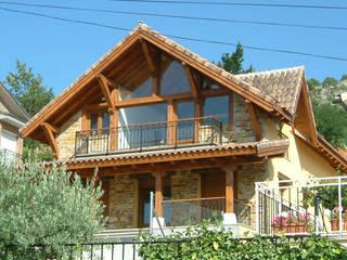 Casa de montaña en Madrid construida por Manuel Monroy Manuel Monroy Pagnon, arquitecto Casas rurales Piedra Marrón