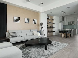 Minimalist living room by 湘頡設計 Minimalist