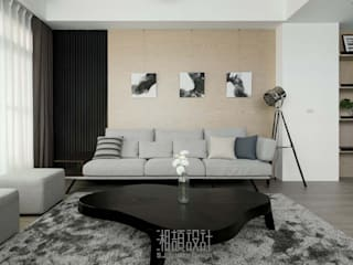 Salas de estilo minimalista de 湘頡設計 Minimalista