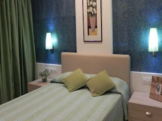Bedroom colour schemes:  Bedroom by Chawla N Associates